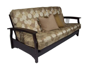 Fremont Black Walnut Queen Wall Hugger Futon Frame (KD) - Futons 4 Less