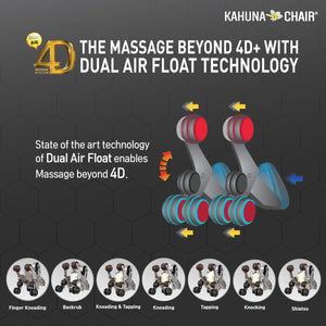 Kahuna Massage Chair 4D+@ Dual AIR Float Full Body Infrared Heating With Voice Recognition Flex HSL-Track SM-9300 Grey