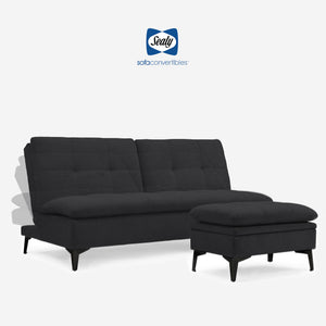 Avondale Convertible Sofa - Sydney Black by Sealy Sofa Convertibles