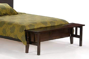 P Series Rosemary Medium Oak Platform Bed - Futons 4 Less