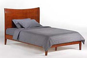K Series Blackpepper Cherry Platform Bed - Futons 4 Less