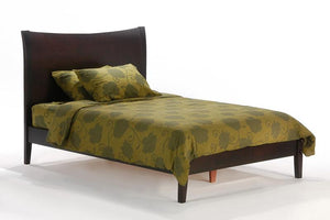 P Series Blackpepper Dak Chocolate Platform Bed