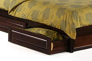 P Series Rosemary Dark Chocolate Platform Bed - Futons 4 Less