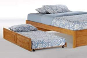 K Series Basic Cherry Platform Bed - Futons 4 Less