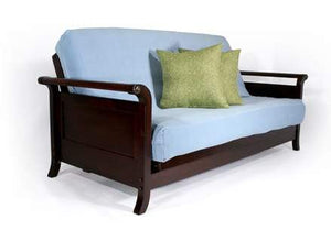 Lexington Dark Cherry Queen Wall Hugger Futon Frame - Futons 4 Less