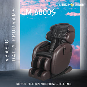 Kahuna Massage Chair Space Saving Zero Gravity Full Body Recliner LM-6800S Brown