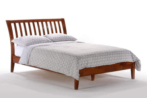 P Series Nutmeg Cherry Platform Bed - Futons 4 Less