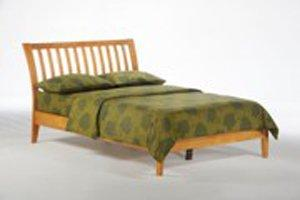 K Series Nutmeg Medium Oak Platform Bed - Futons 4 Less