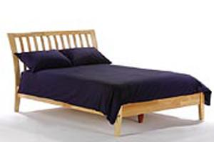 K Series Nutmeg Natural Platform Bed - Futons 4 Less