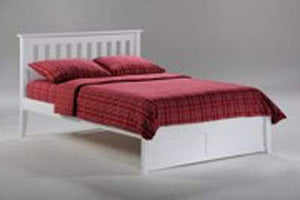 P Series Rosemary White Platform Bed - Futons 4 Less