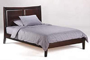 P Series Saffron Dark Chocolate Platform Bed - Futons 4 Less