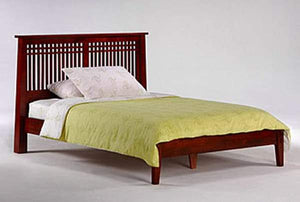 P Series Solstice Cherry Platform Bed - Futons 4 Less