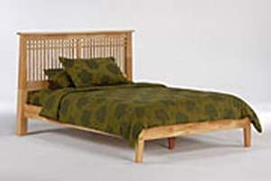 P Series Solstice Natural Platform Bed - Futons 4 Less