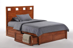 P Series Tamarind Dark Chocolate Platform Bed - Futons 4 Less