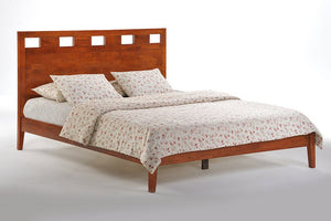 K Series Tamarind Cherry Platform Bed - Futons 4 Less