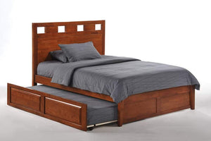K Series Tamarind White Platform Bed - Futons 4 Less