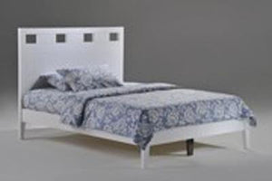 P Series Tamarind White Platform Bed - Futons 4 Less