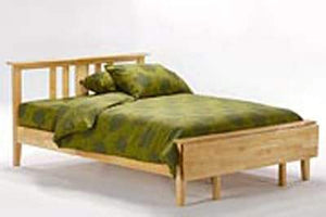 P Series Thyme Medium Oak Platform Bed - Futons 4 Less