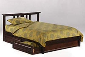 P Series Thyme Dark Chocolate Platform Bed - Futons 4 Less
