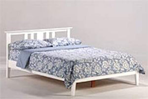 P Series Thyme White Platform Bed - Futons 4 Less