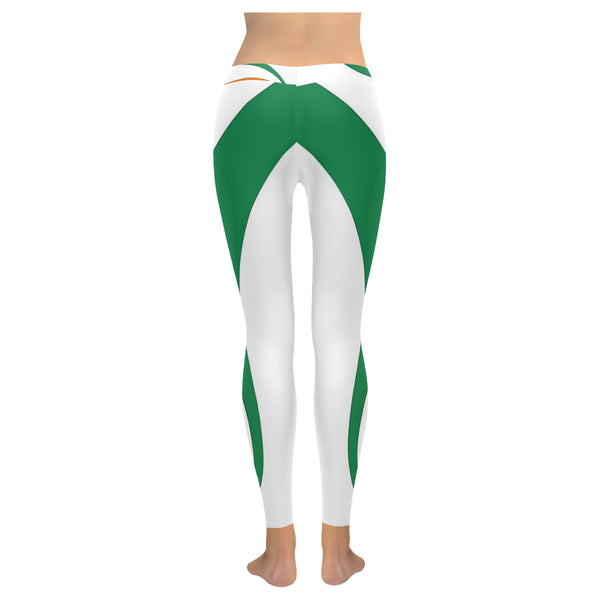 Indian Flag 2 Low Rise Leggings (Invisible Stitch) (Model L05) - kdb solution