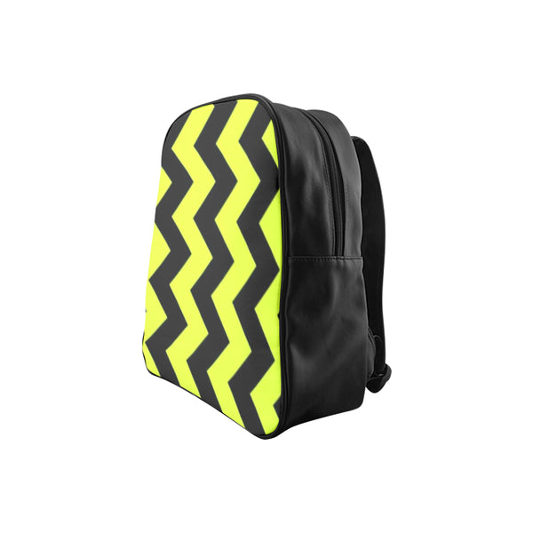 Black and Yellow School Backpack (Model 1601)(Medium) - kdb solution