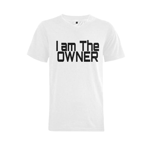 I am the Owner Men's V-Neck T-shirt  Big Size(USA Size) (Model T10) - kdb solution