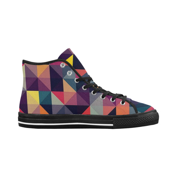 Women's  Checkered Colored High Top Canvas Shoes  \'s