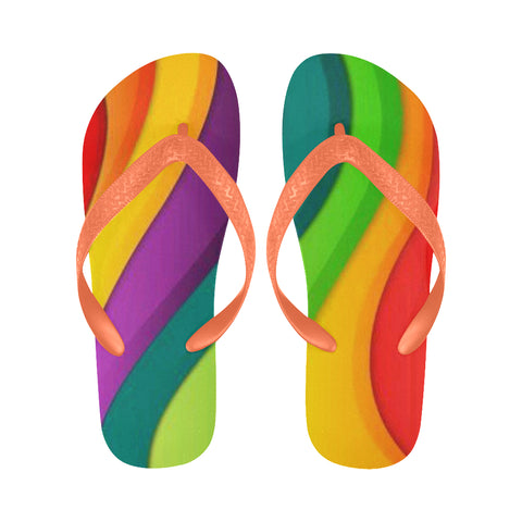 Rainbow Flip Flops for Men/Women (Model 040)