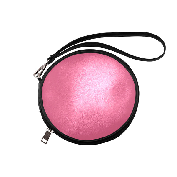 Deep Pink Round Makeup Bag (Model 1625) - kdb solution