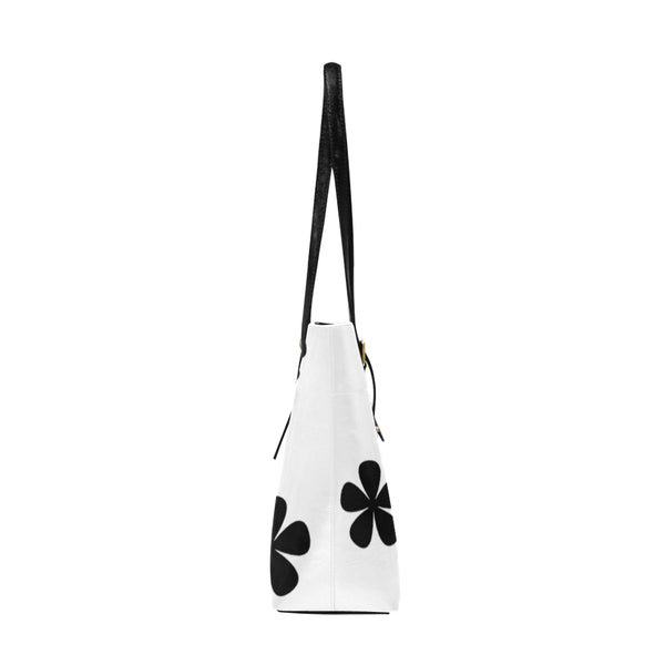 Black and White Pattern Euramerican Tote Bag/Large (Model 1656) - kdb solution