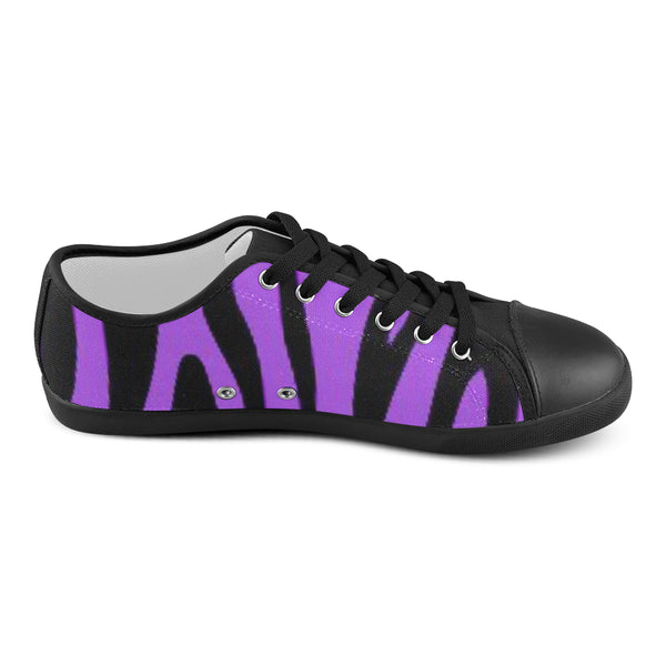 Women's Purple and Black Canvas Shoe 's