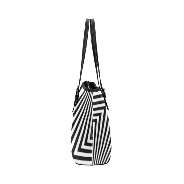 Zig Zag Leather Tote Bag/Small (Model 1651)