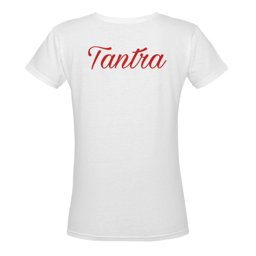 Tantra Women's Deep V-neck T-shirt (Model T19) - kdb solution