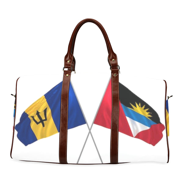 Barbados and Antigua flags Waterproof Travel Bag/Small (Model 1639) - kdb solution