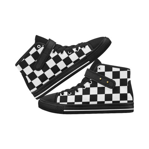 Checkered Aquila Strap Men's Shoes (Model 1202) - kdb solution