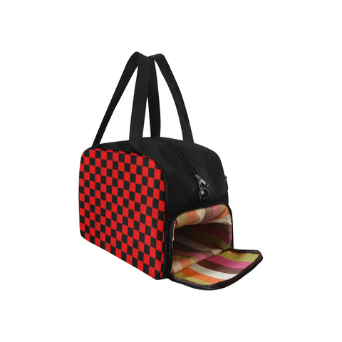 Red and Black Checkered Fitness/Overnight bag (Model 1671) - kdb solution