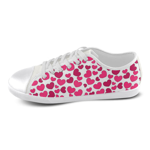 Heart Women's Canvas Shoes (Model 016) - kdb solution