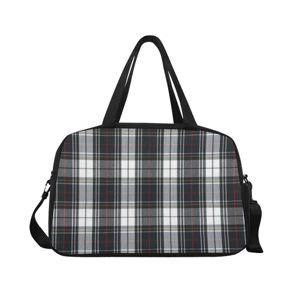 Grey and White Plaid Fitness/Overnight bag (Model 1671) - kdb solution