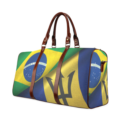 Barbados and Brazil Waterproof Travel Bag/Small (Model 1639) - kdb solution