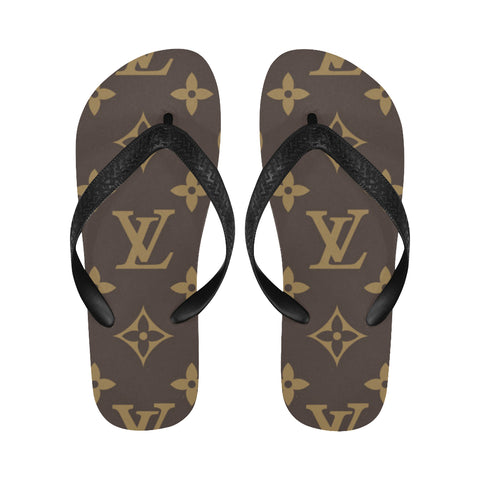 Louis Vuitton Pattern Flip Flops for Men/Women (Model 040) - kdb solution