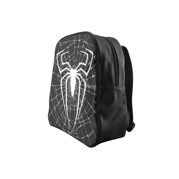 Black and White Spider web School Backpack (Model 1601)(Small) - kdb solution