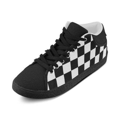 Checkered Men's Chukka Canvas Shoes (Model 003) - kdb solution
