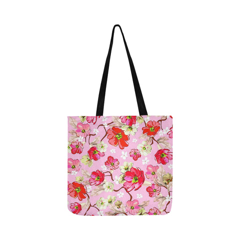 Pink and White flowers Reusable Shopping Bag Model 1660 (Two sides) - kdb solution