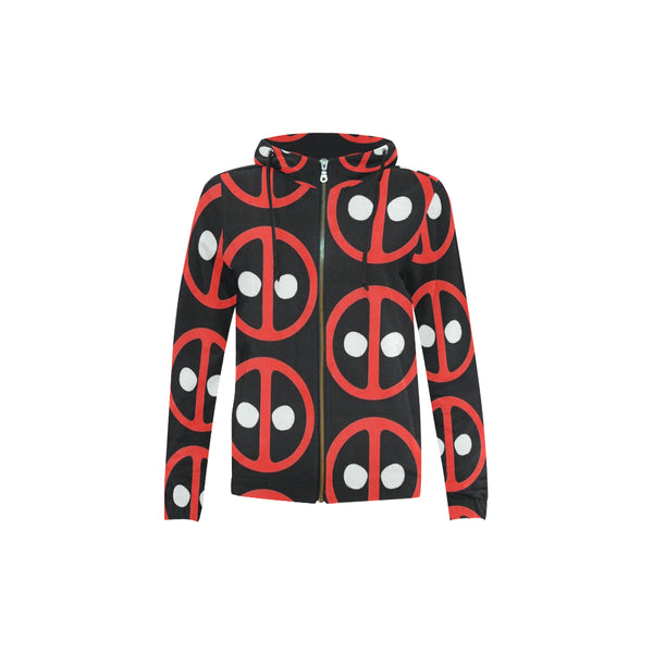 Deadpool All Over Print Full Zip Hoodie for Kid (Model H14) - kdb solution