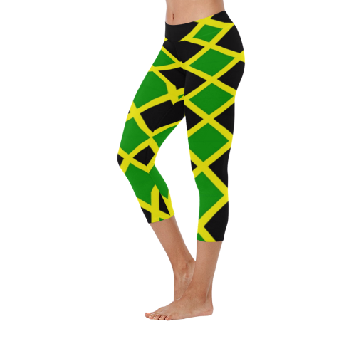 51bc319668a066 Jamaica tile Low Rise Capri Leggings (Invisible Stitch) (Model L08) – kdb  solution