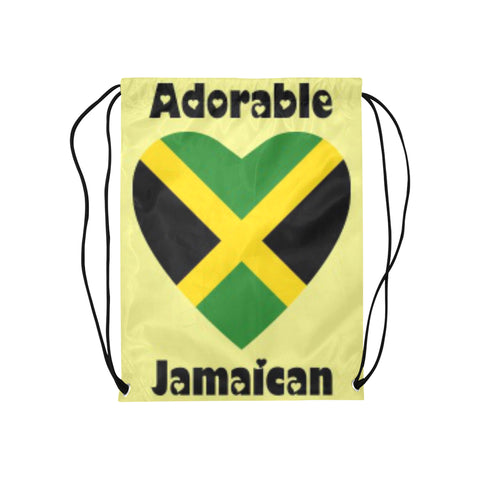 "Adorable Jamaica Drawstring Medium Bag Model 1604 (Twin Sides) 13.8""(W) * 18.1""(H) - kdb solution"