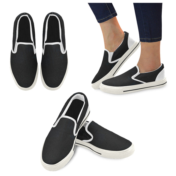 Midnight Blue Men's Slip-on Canvas Shoes (Model 019) - kdb solution