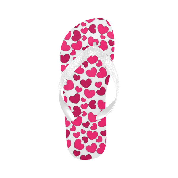 Hearts Flip Flops for Men/Women (Model 040) - kdb solution
