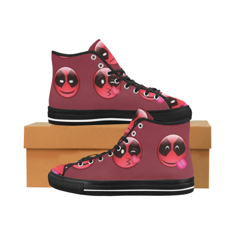 Women's Dead Pool Emoji High Top Canvas Shoes \'s